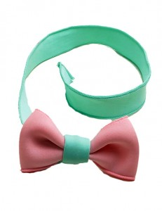Lovely Pink+green Bowknot